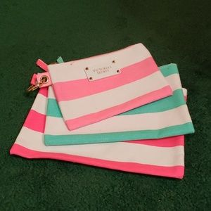 BRAND NEW THREE VICTORIA SECRET COSMETICS BAGS